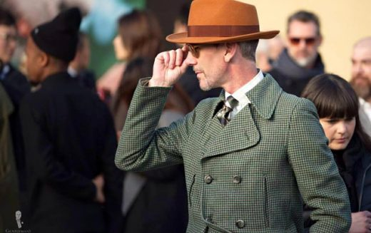 One of the most photographed men at Pitti Uomo